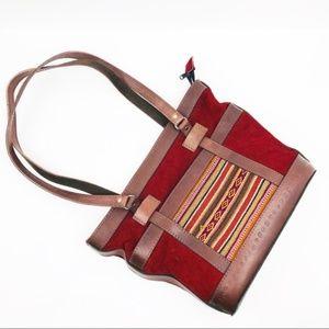 Leather Bolivian Boho Shoulder Bag Western Purse